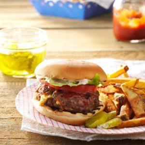 Herb & Cheese-Stuffed Burgers