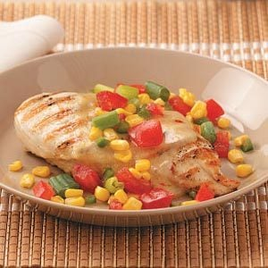 Chicken with Garden Salsa for Two