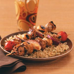 Teriyaki Pork Kabobs for Two