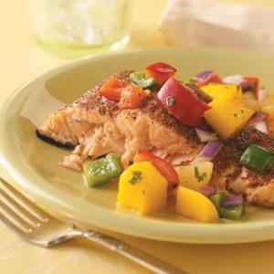 Salmon with Caribbean Salsa