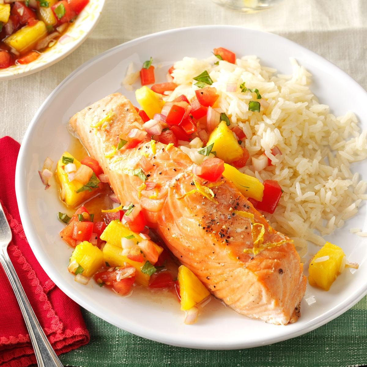 Citrus Salmon Fillets with Salsa