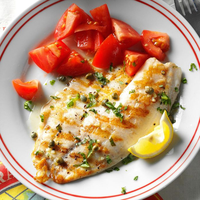 October 6: Grilled Tilapia Piccata