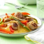 Sausage & Peppers with Cheese Polenta