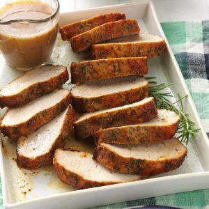 Herbed Pork Roast with Gravy