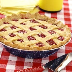 Simple Raspberry Cherry Pie