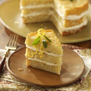 Italian Triple Lemon Cream Cake