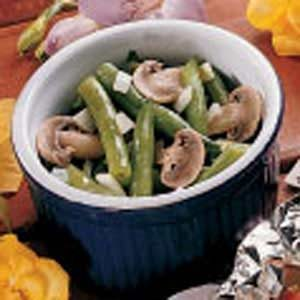 Fresh Green Beans with Mushrooms
