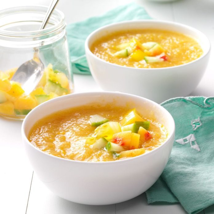 Golden Summer Peach Gazpacho