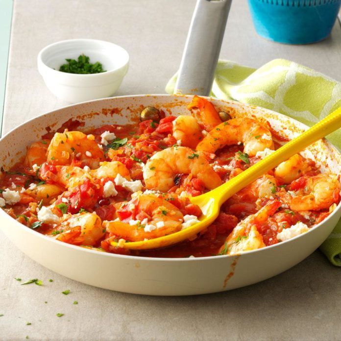 Day 3 Dinner: Feta Shrimp Skillet