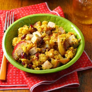 Cran-Apple Turkey Skillet