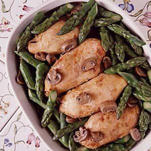 Asparagus, Chicken, Wild Rice Casserole