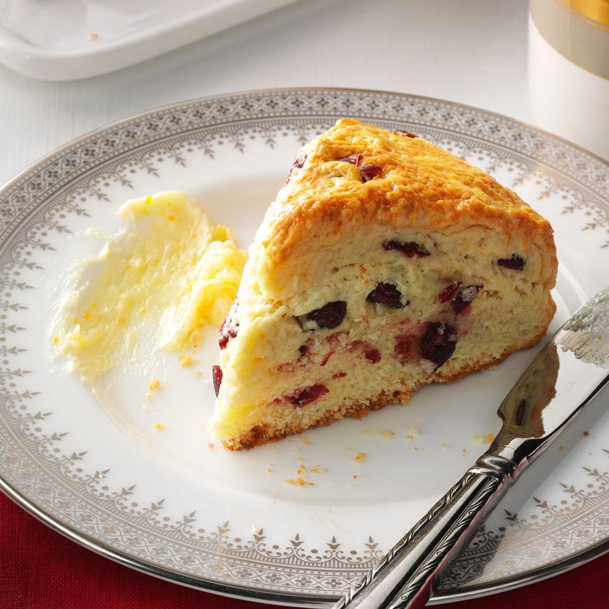 Cranberry Scones with Orange Butter