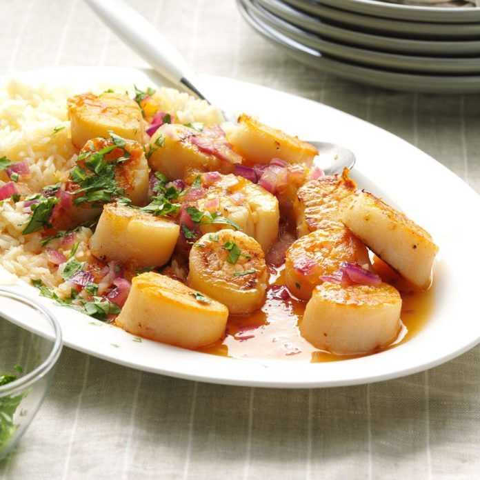 Day 29: Spicy Mango Scallops
