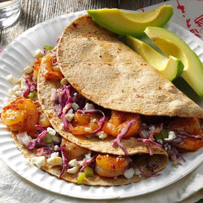 South Carolina: Feta Shrimp Tacos