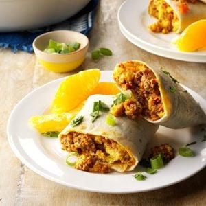Eggs & Chorizo Wraps
