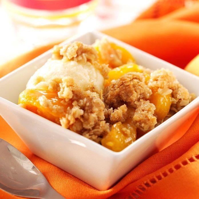 Peach Crisp Recipe Taste Of Home