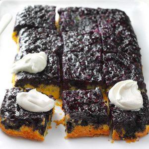 Blueberry-Lemon Upside-Down Cake