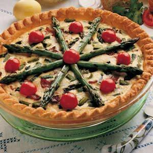 Hearty Asparagus Quiche