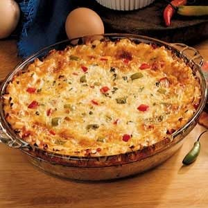 Country Pepper Omelet Pie