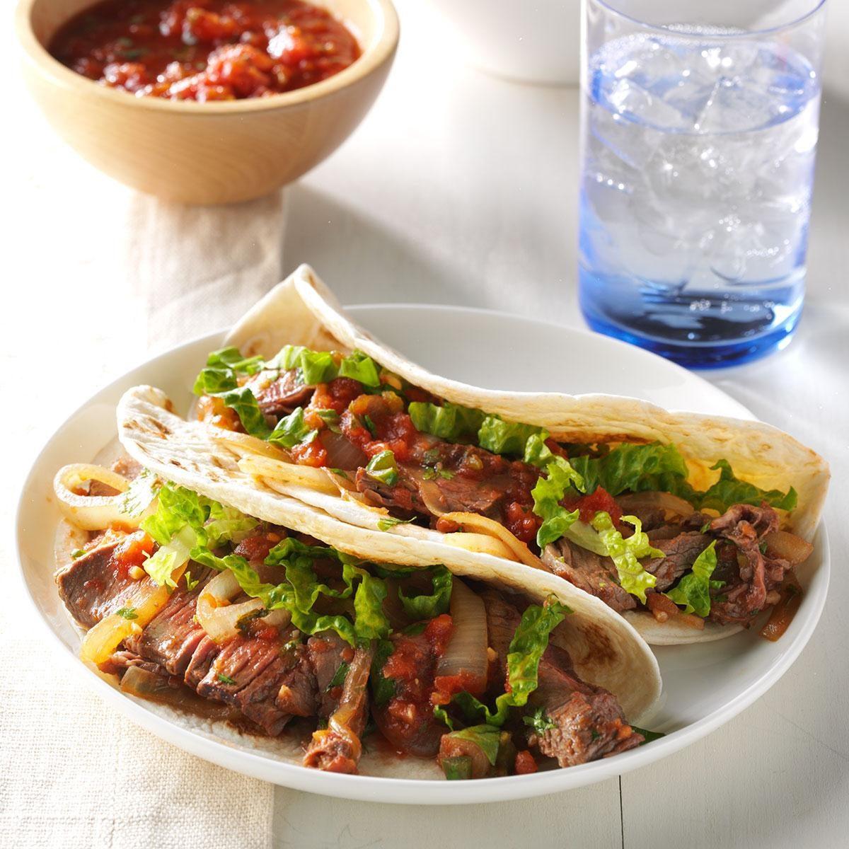 Cilantro Beef Tacos
