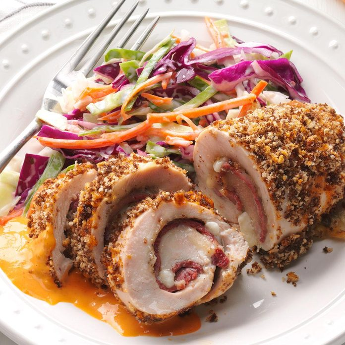 Chicken Reuben Roll-Ups