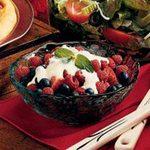 Berries in Custard Sauce