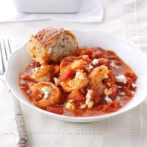 Shrimp & Feta Skillet