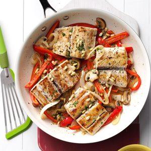 Mahi Mahi & Veggie Skillet