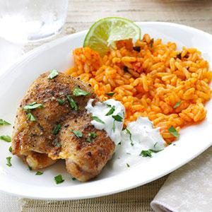 Lime Chicken with Salsa Verde Sour Cream