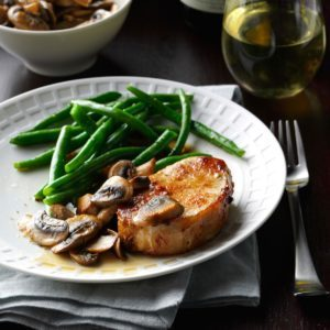 Pork Chops & Mushrooms