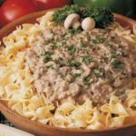 Hamburger Stroganoff with Poppy Seed Noodles