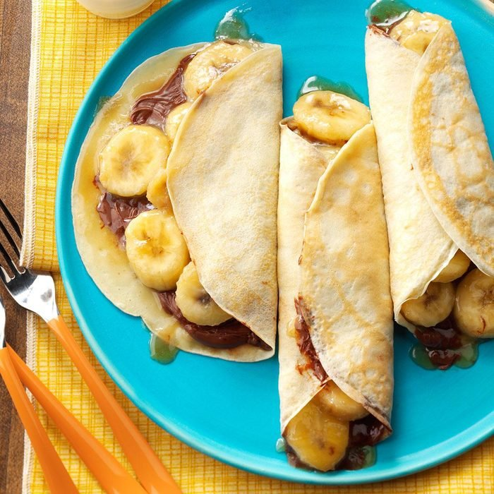 Chocolate-Hazelnut Banana Crepes