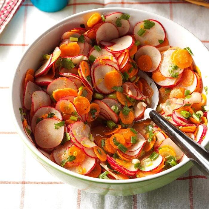 Radish, Carrot & Cilantro Salad