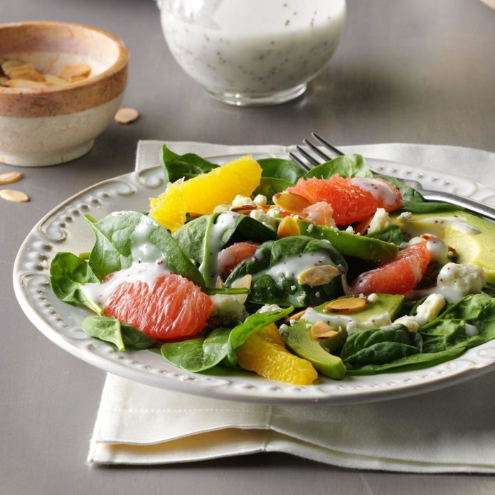 Citrus Avocado Spinach Salad