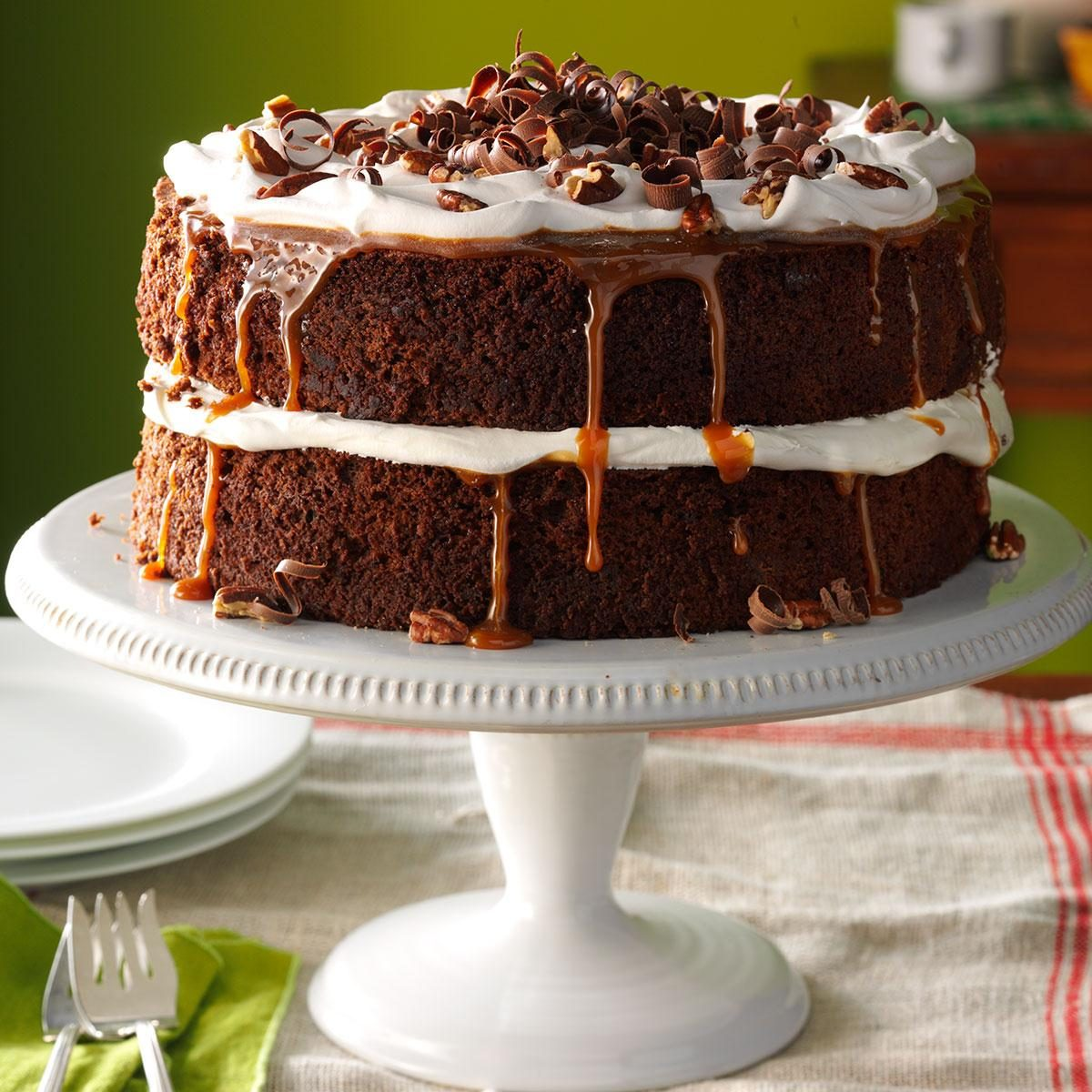 Caramel-Pecan Mocha Layer Cake