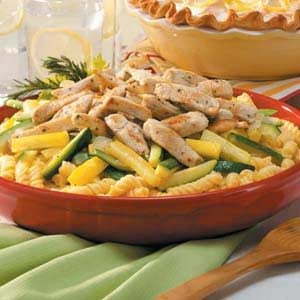 Pasta with Chicken and Squash