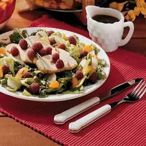 Turkey Salad with Raspberries