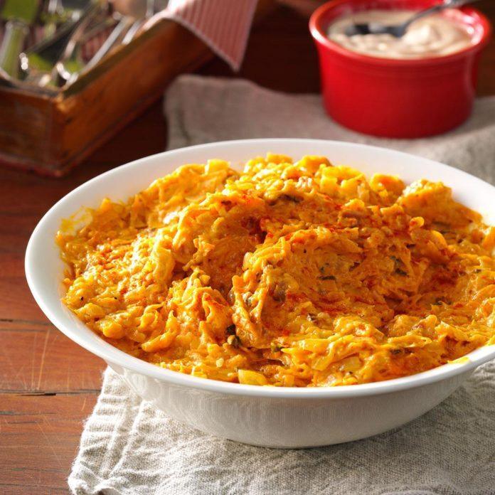 Chipotle Shredded Sweet Potatoes with Bacon