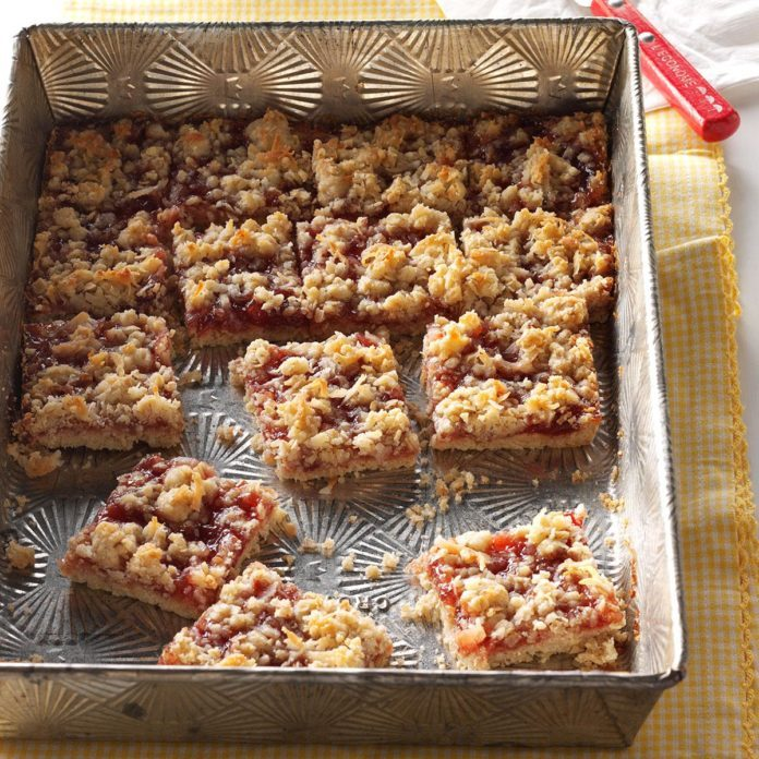 Oklahoma: Strawberry Oatmeal Bars