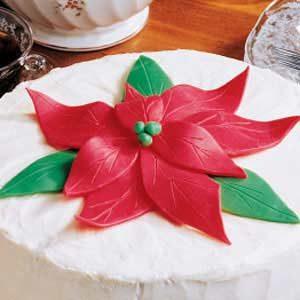 Edible Poinsettia Christmas Clay