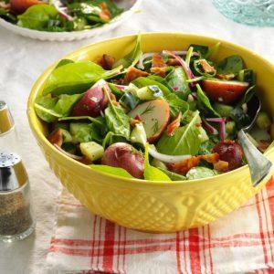 Garden Spinach-Potato Salad