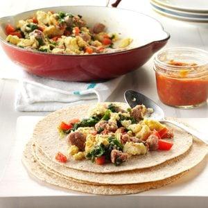 Sausage-Egg Burritos