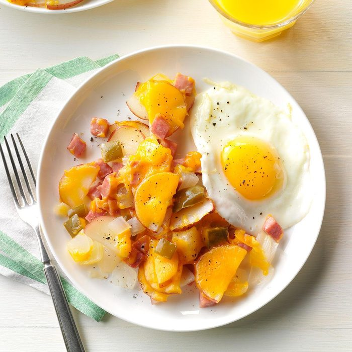 Grilled Cheesy Ham & Potato Packet