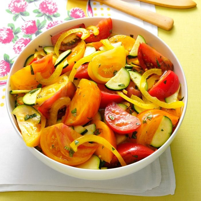 Heirloom Tomato & Zucchini Salad