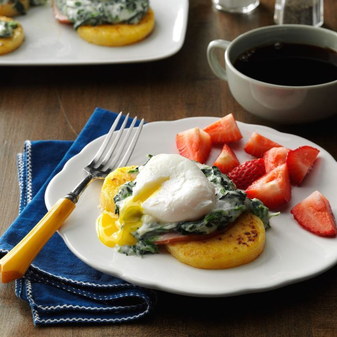 Poached Eggs & Polenta