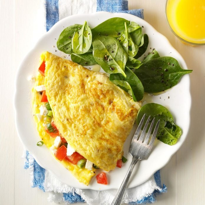 Day 1 Breakfast: Mediterranean Omelet