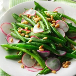 Sauteed Radishes with Green Beans