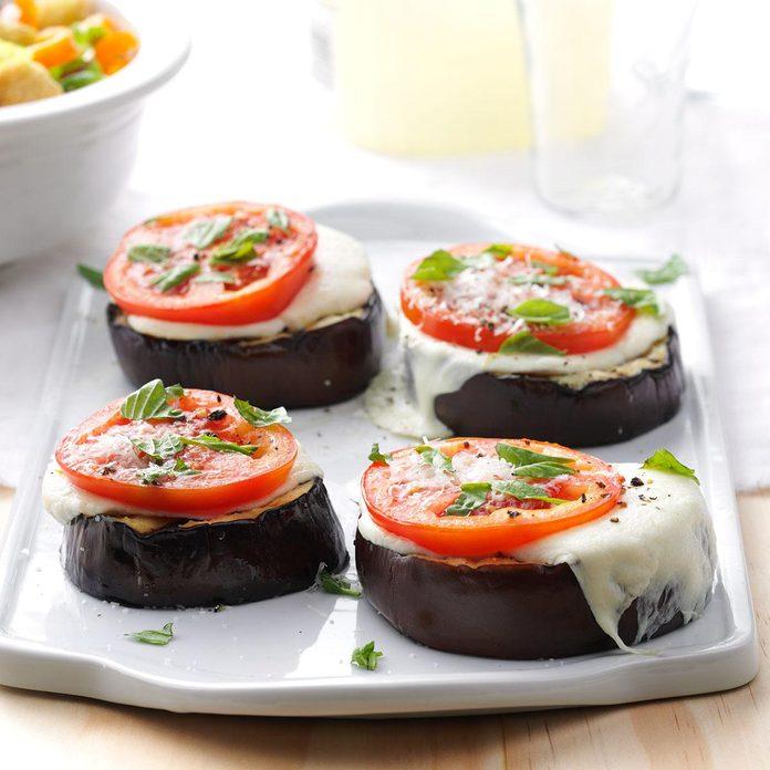 Grilled Eggplant Parmesan Stacks