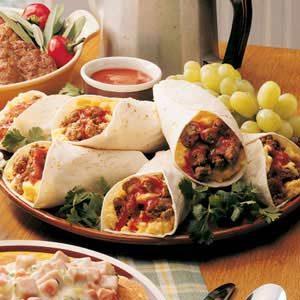 Zesty Breakfast Burritos