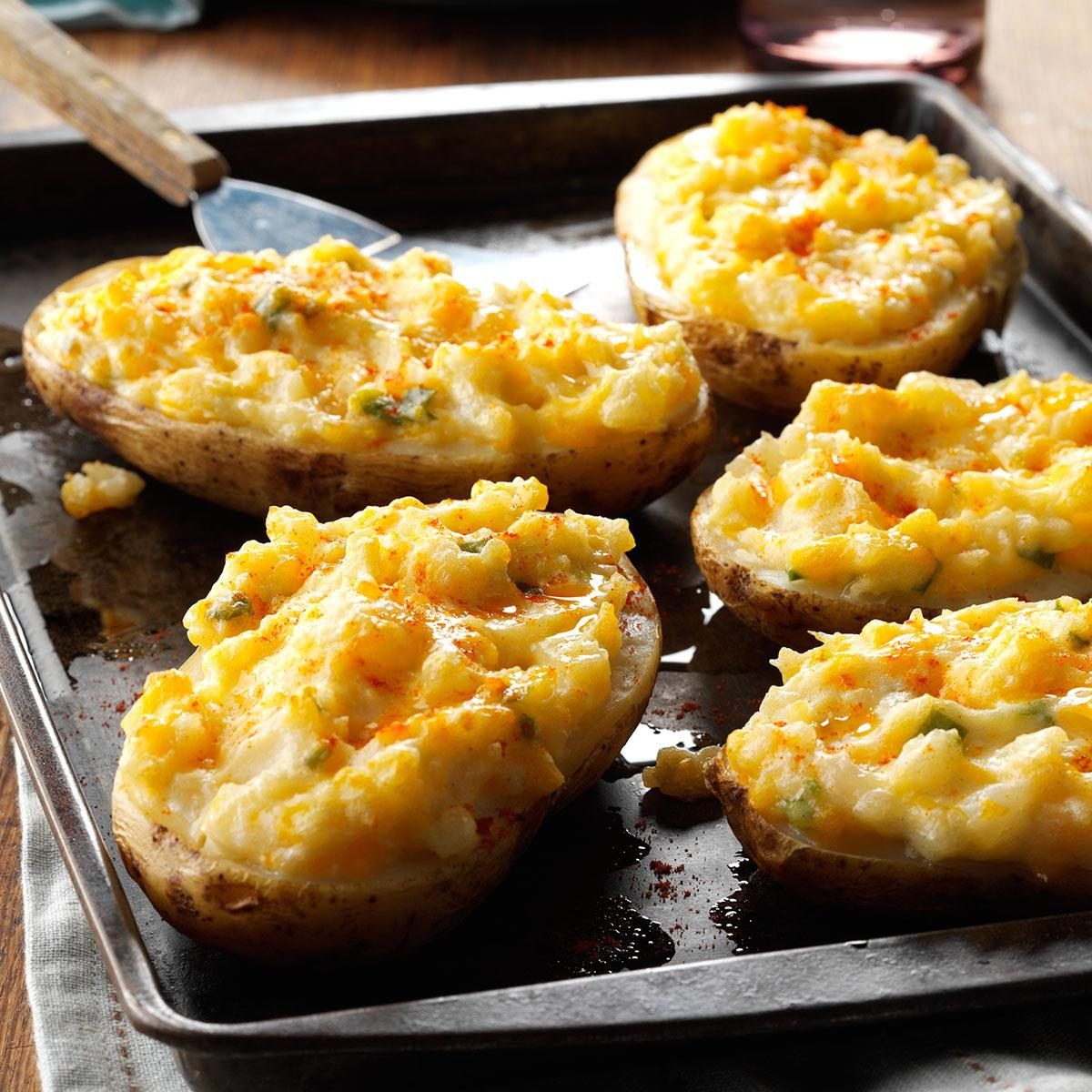 Cheesy Stuffed Baked Potatoes